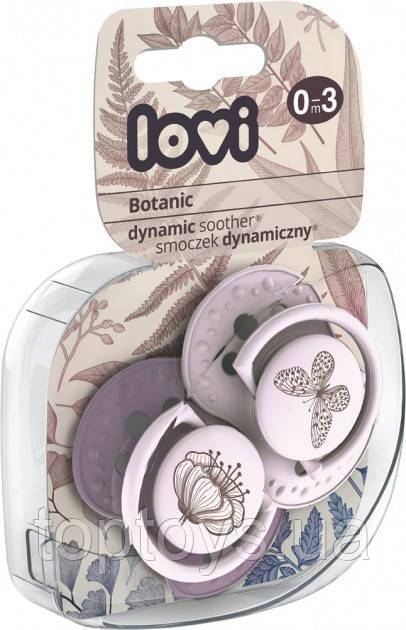 Пустушка силіконова Lovi Botanic Girl динамічна 0-3 міс 2 шт (22/869girl)