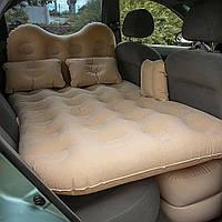 Автомобильный матрас надувной WOW Надувная кровать в авто на заднее сиденье с подголовником Электронасос + 2
