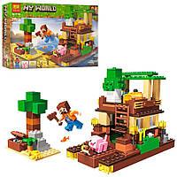 Конструктор для мальчиков Остров сокровищ: игровая локация с фигурками, 248 деталей - Bela Minecraft My World