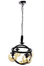 Люстра потолочная подвесная в стиле LOFT (лофт) 12125/4 Черный 45х47х47 см.