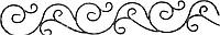 Декоративный кованый фриз 1200х170х12х6 в