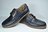 Мужские кожаные туфли мокасины черные eD - Ge Тор, фото 2