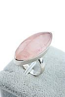 Кільце з рожевим кварцом.