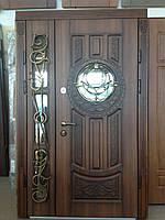 Двери входные со стеклопакетом по акции