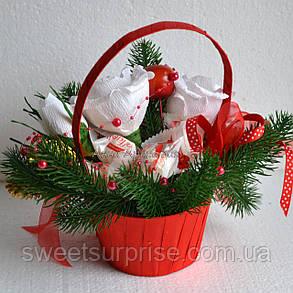 Новогодняя подарочная корзина (мини), фото 2