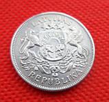 """Латвия 2 лата 1925 г. """"Первая Республика (1922 - 1940)"""" серебро №267, фото 2"""