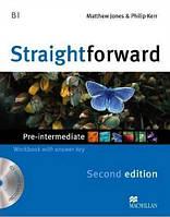 Straightforward (2nd Edition) Pre Intermediate Workbook with Key + CD