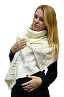 Женский вязаный теплый шарф