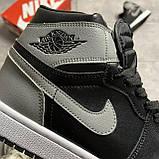 Мужские кроссовки Nike Air Jordan 1 Retro High Shadow (копия), фото 6