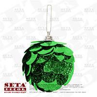 """Шар новогодний """"Shine"""" зелёный на ёлку"""