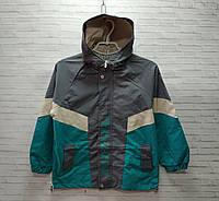 Куртка дитяча для хлопчика з капюшоном Fan-2-DTW розмір 6-9 років, колір блакитний з сірим, фото 1