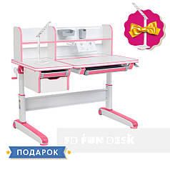 Дитячий стіл-трансформер FunDesk Libro Pink