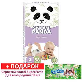 Підгузники Сніжна панда Midi 3(58шт/4-9 кг)