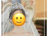 VIP Діадема золотого кольору з цирконами, що мають блиск діамантів (7см), фото 6