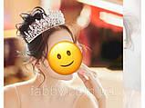 VIP Діадема золотого кольору з цирконами, що мають блиск діамантів (7см), фото 4