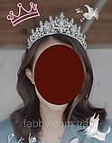 VIP Діадема золотого кольору з цирконами, що мають блиск діамантів (7см), фото 10