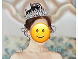 VIP Діадема золотого кольору з цирконами, що мають блиск діамантів (7см), фото 5
