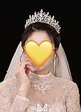VIP Діадема золотого кольору з цирконами, що мають блиск діамантів (7см), фото 3