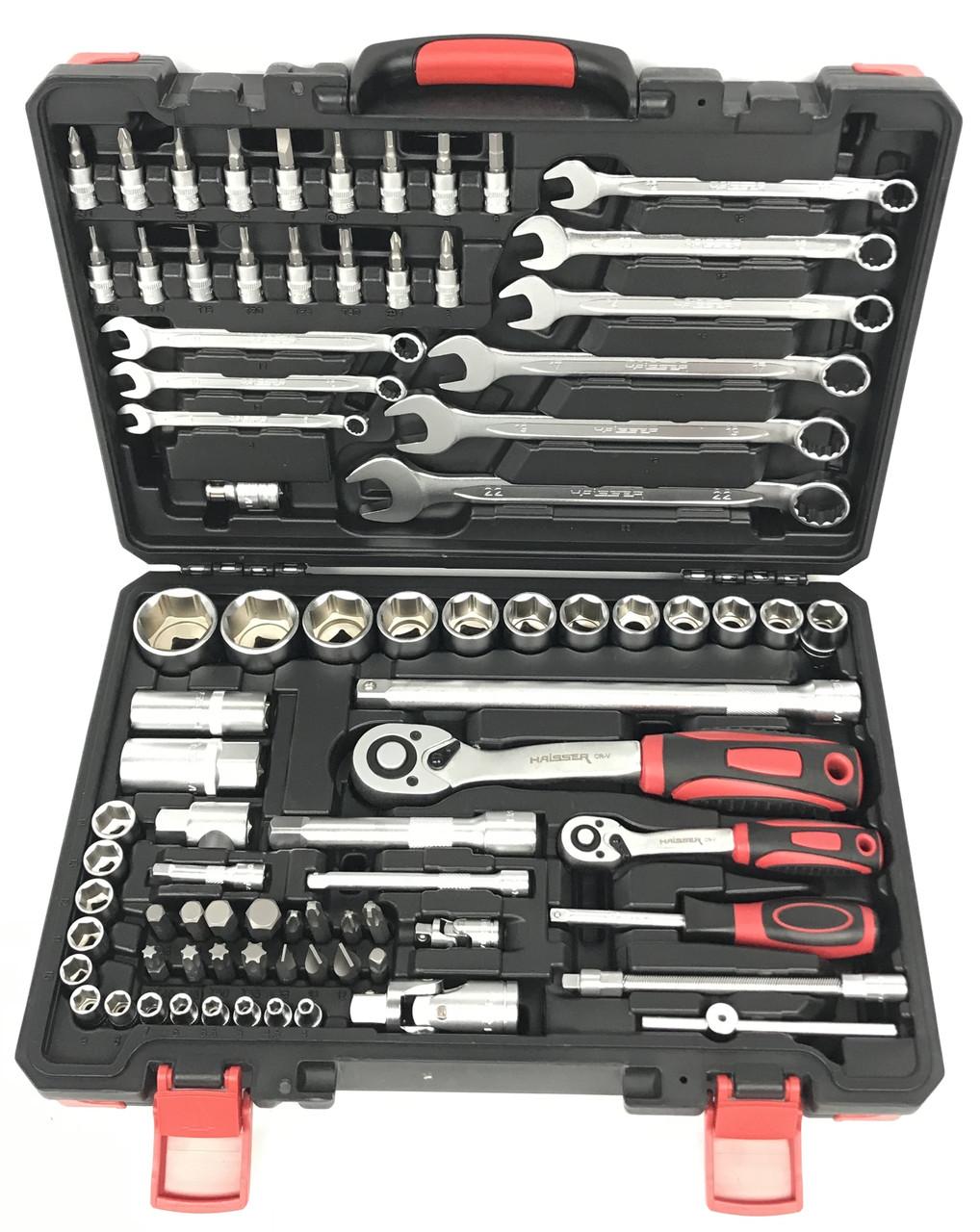 Профессиональный набор инструментов и ключей Haisser 82 ед.