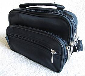 Сумка мужская Wallaby через плечо небольшая качественная барсетка сумки мужские 8w2663 черная