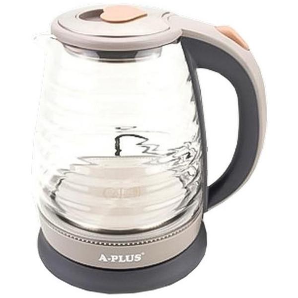 Электрочайник дисковый стеклянный A-PLUS 2 л чайник электрический