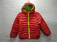Куртка детская демисезонная для мальчика с капюшоном размер 3-7 лет, красного цвета