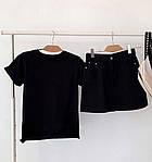 Женская базовая футболка из натуральной ткани (Батал), фото 2