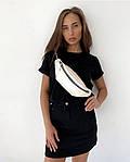 Женская базовая футболка из натуральной ткани (Батал), фото 3