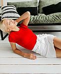 Женская базовая футболка из натуральной ткани (Батал), фото 6