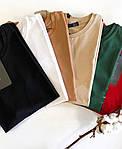 Женская базовая футболка из натуральной ткани (Батал), фото 8