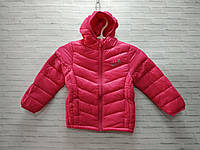 Демисезонная детская куртка для девочки с капюшоном DKR 3-7 лет, малинового цвета