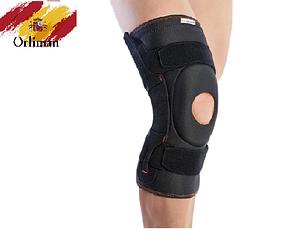 Наколінник, бандаж на коліно з бічними вставками і шарніром 7104 (ортез, фіксатор на колінний суглоб)