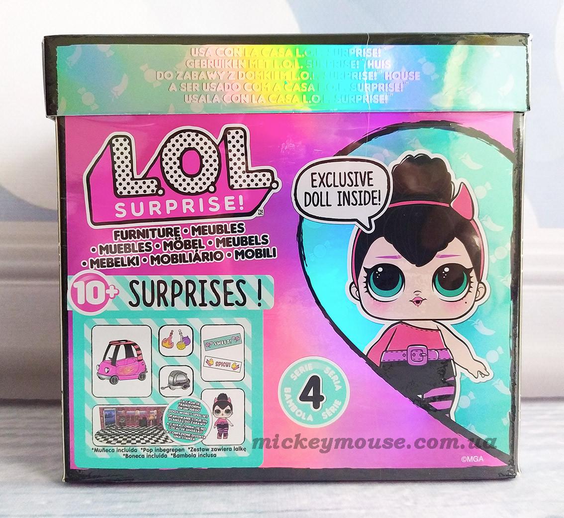 Оригінал. Ігровий набір з лялькою L. O. L. Surprise! Furniture Перчинка з автомобілем 572619