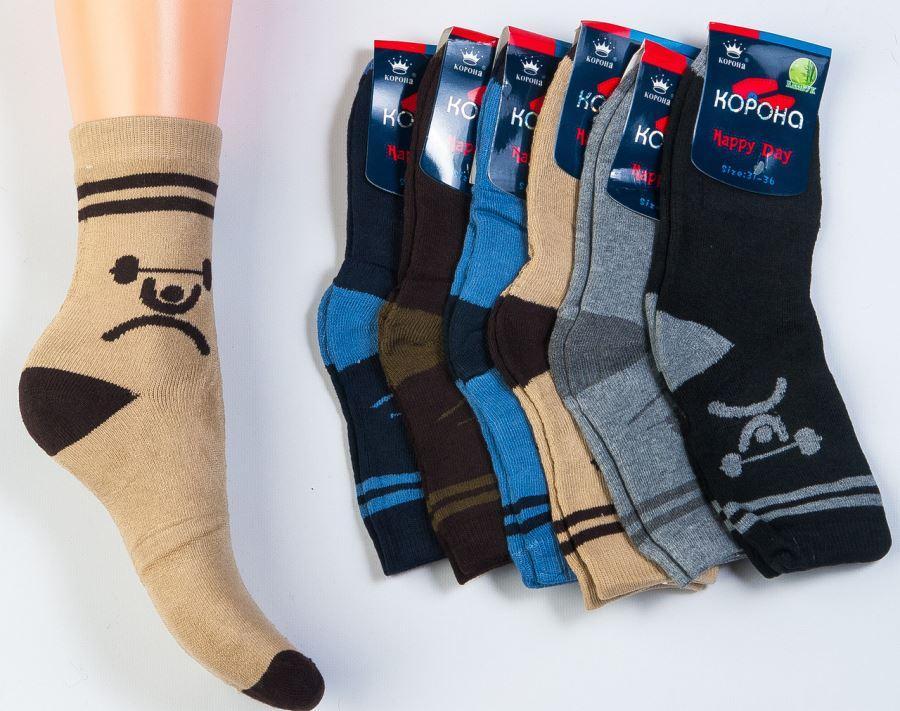 """Детские носки с махрой """"КОРОНА"""" бамбук зимние Китай размеры 31-36 НДЗ-0720"""