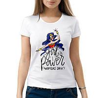 """Женская футболка с принтом """"Girl power women's day"""" Push IT"""