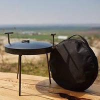 Сковорода из диска бороны 30см (с крышкой и чехлом) для пикника