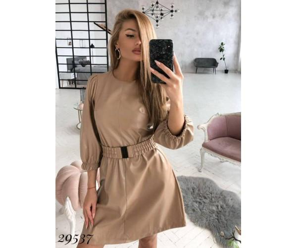 Женское кожаное платье