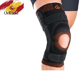 Наколінник, бандаж на коліно з відкритою колінної чашечки і шарніром 9107 (ортез, фіксатор на колінний суглоб)