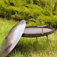 Сковорода из диска бороны 40см (с крышкой) для пикника