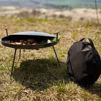 Сковорода из диска бороны 40см+(крышка и чехол) туристическая для пикника