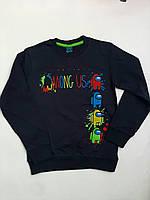 Реглан для мальчиков амонг ас Among us свитшот,кофта, батник черный,серый 8-12 летрост 128-152см двухнитка