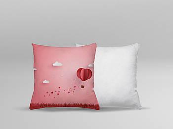 """Декоративная подушка для сублимации с принтом """"8 Марта"""" 35х35см.8В 5906"""