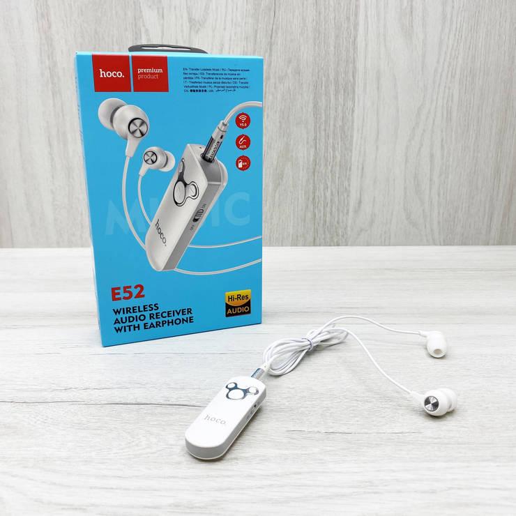 Наушники Hoco E52 Euphony с беспроводным аудио ресивером (белые), фото 2
