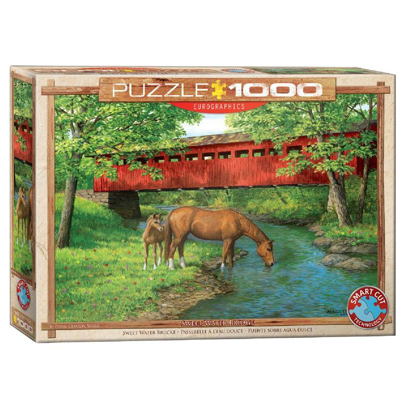 Пазл Eurographics Мост в лесу, 1000 элементов