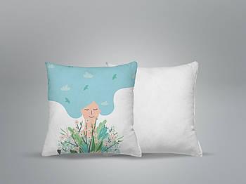 """Декоративная подушка для сублимации с принтом """"8 Марта"""" 35х35см.8В 5909"""