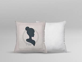 """Декоративная подушка для сублимации с принтом """"8 Марта"""" 35х35см.8В 5910"""
