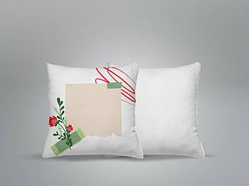 """Декоративная подушка для сублимации с принтом """"8 Марта"""" 35х35см.8В 5911"""
