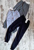 Спортивные штаны ЮНИОР Nike на манжетах для мальчика 11-15 лет,черного цвета