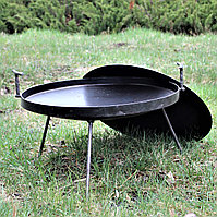Сковорода из диска 50см бороны (с крышкой) туристическая для пикника
