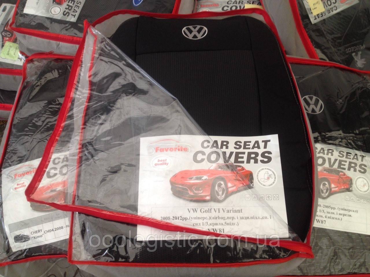 Авточохли на Volkswagen Golf 6 Variant 2008-2012 універсал Favorite на Фольксваген Гольф 6 Варіант